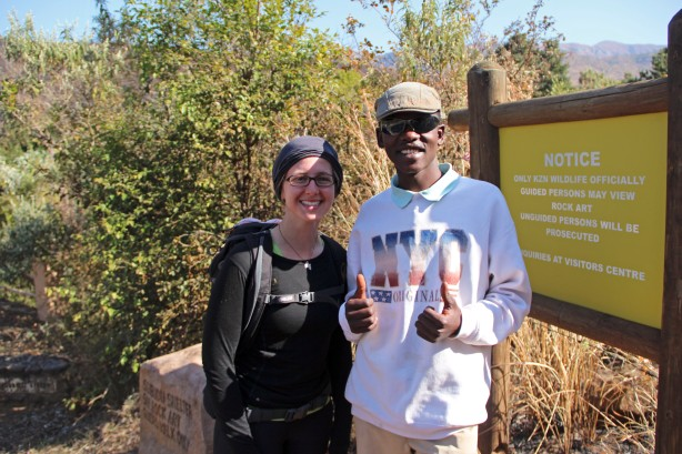 Sarah and our excellent guide Matiba